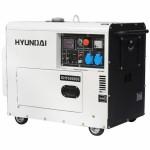 Дизельный генератор Hyundai DHY 6000SE + колеса