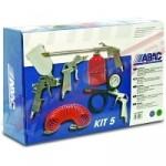 Набор пневмоинструментов (5шт.) ABAC KIT
